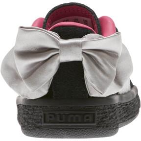 Thumbnail 4 of Suede Bow Infant Sneakers, Puma Black-Fuchsia Purple, medium