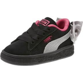 Thumbnail 1 of Suede Bow Infant Sneakers, Puma Black-Fuchsia Purple, medium