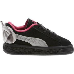 Thumbnail 3 of Suede Bow Infant Sneakers, Puma Black-Fuchsia Purple, medium