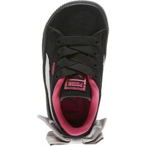 Thumbnail 5 of Suede Bow Infant Sneakers, Puma Black-Fuchsia Purple, medium