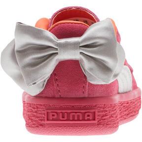 Thumbnail 4 of Suede Bow Infant Sneakers, Fuchsia Purple-Nasturtium, medium