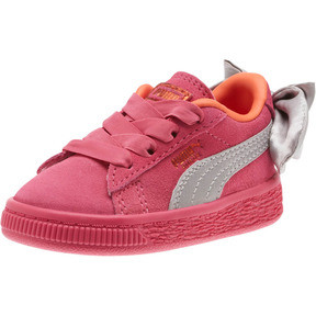 Suede Bow Infant Sneakers