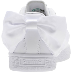 Thumbnail 4 of Basket Bow Jr, Puma White-Puma White, medium