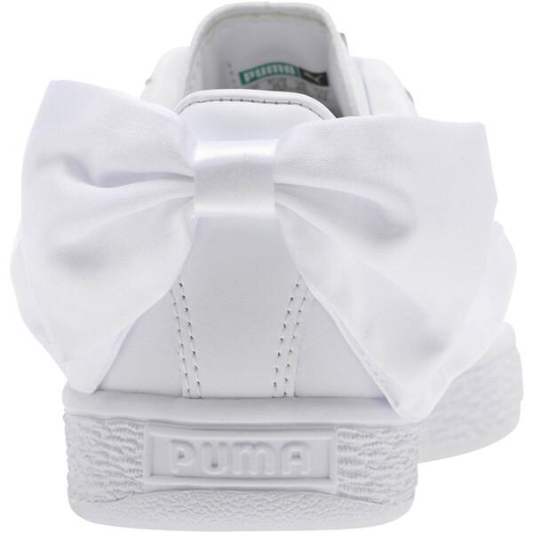Basket Bow Jr, Puma White-Puma White, large