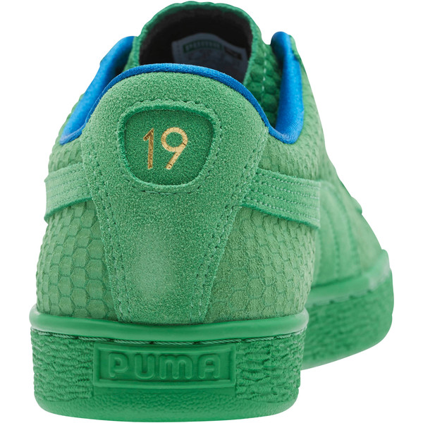 Suede Classic Archive AOP Sneakers, Kelly Green-Puma Team Gold, large