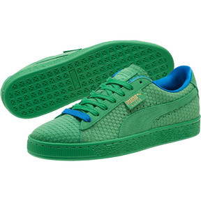 Thumbnail 2 of Suede Classic Archive AOP Sneakers, Kelly Green-Puma Team Gold, medium