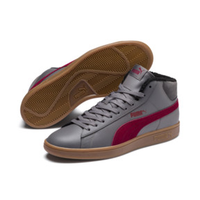 Thumbnail 3 of Smash v2 Mid Winterized Leather High Tops, CASTLEROCK-Rhubarb-Black-Gum, medium