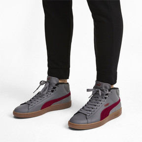 Thumbnail 2 of Smash v2 Mid Winterized Leather High Tops, CASTLEROCK-Rhubarb-Black-Gum, medium