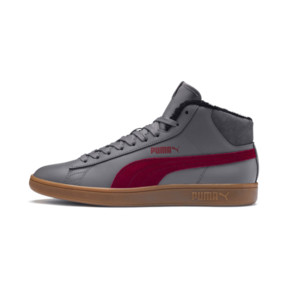 Thumbnail 1 of Smash v2 Mid Winterized Leather High Tops, CASTLEROCK-Rhubarb-Black-Gum, medium