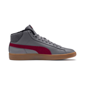 Thumbnail 6 of Smash v2 Mid Winterized Leather High Tops, CASTLEROCK-Rhubarb-Black-Gum, medium
