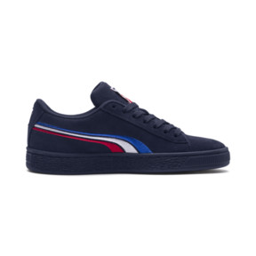 Thumbnail 5 of Suede Classic Multicolour Embroidery JR Sneakers, Peacoat-White-Red-Blue, medium
