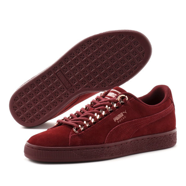 SUEDE CLASSIC X CHAIN WNS, Pomegranate-Rose Gold, large-JPN