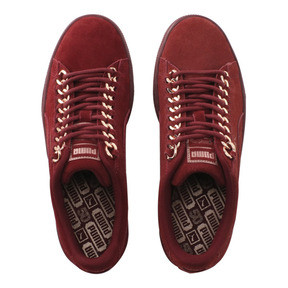 Thumbnail 6 of SUEDE CLASSIC X CHAIN WNS, Pomegranate-Rose Gold, medium-JPN