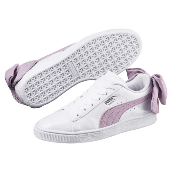 new style 62b59 ab04f Basket Suede Bow Women's Sneakers