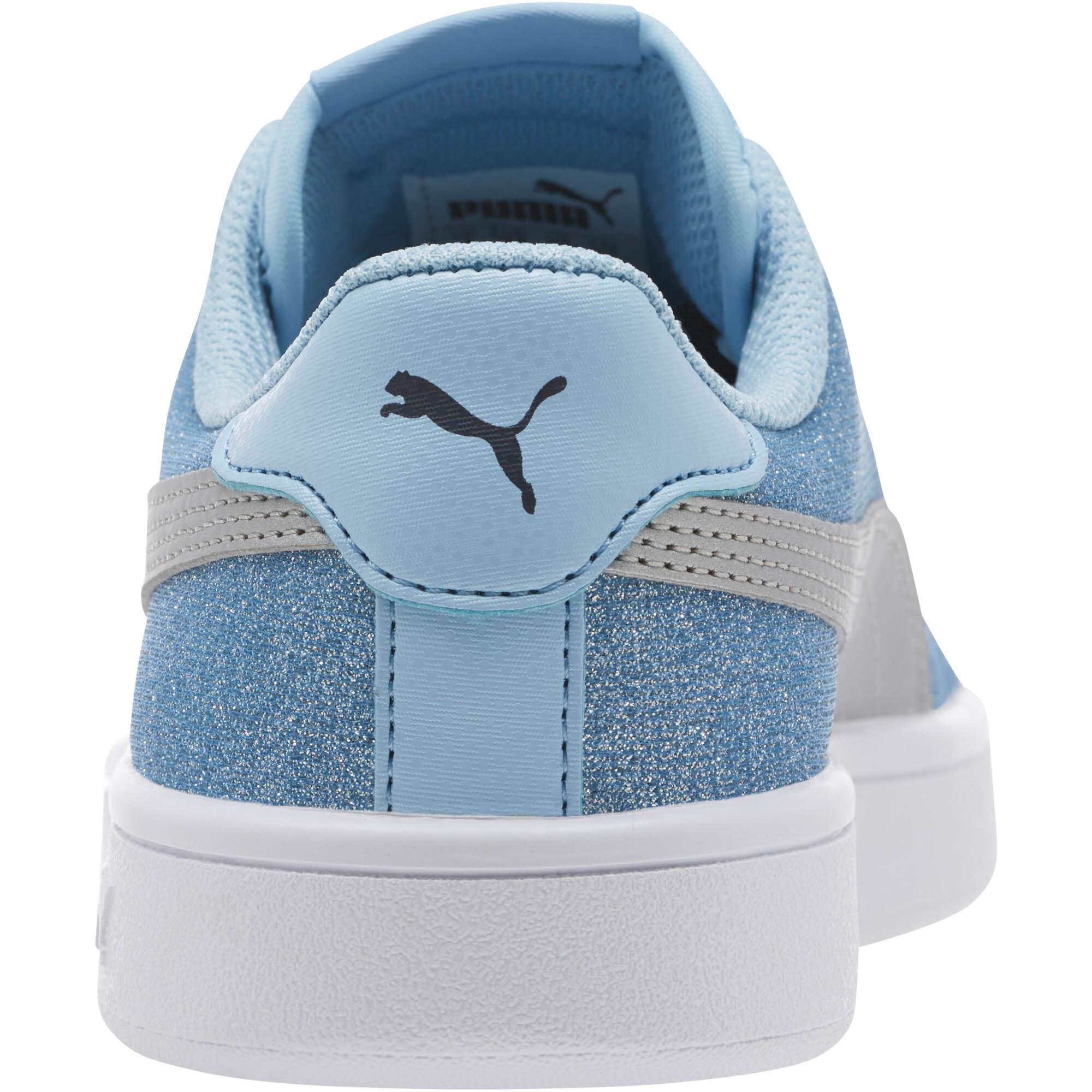 PUMA-Smash-v2-Glitz-Glam-Sneakers-JR-Girls-Shoe-Kids thumbnail 3