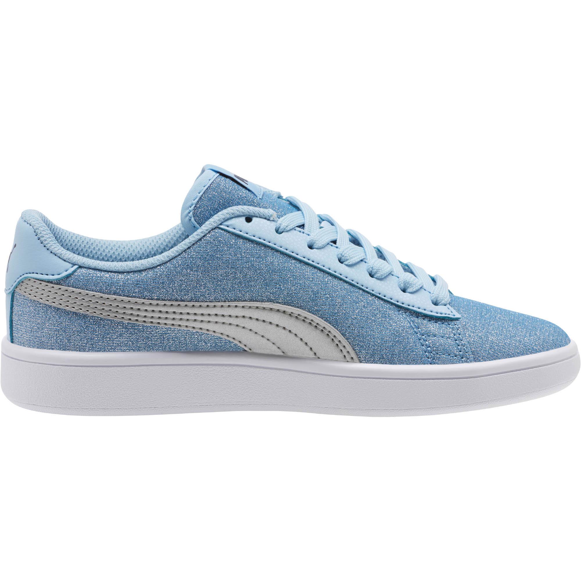 PUMA-Smash-v2-Glitz-Glam-Sneakers-JR-Girls-Shoe-Kids thumbnail 5