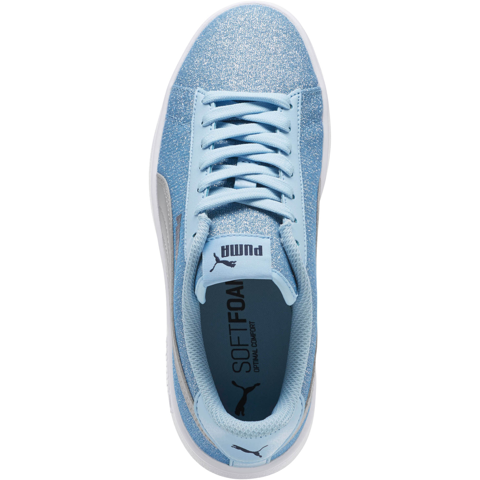 PUMA-Smash-v2-Glitz-Glam-Sneakers-JR-Girls-Shoe-Kids thumbnail 6