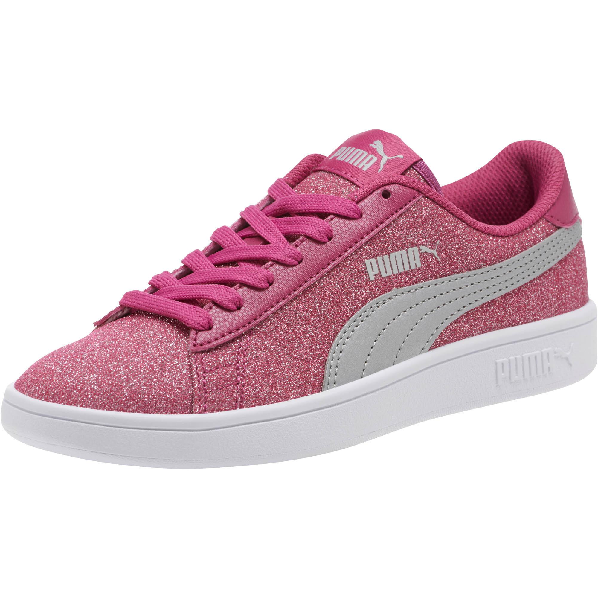 PUMA-Smash-v2-Glitz-Glam-Sneakers-JR-Girls-Shoe-Kids thumbnail 9