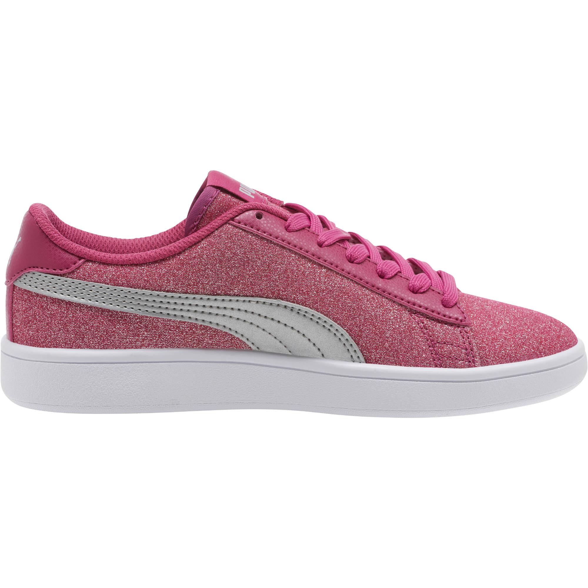 PUMA-Smash-v2-Glitz-Glam-Sneakers-JR-Girls-Shoe-Kids thumbnail 10