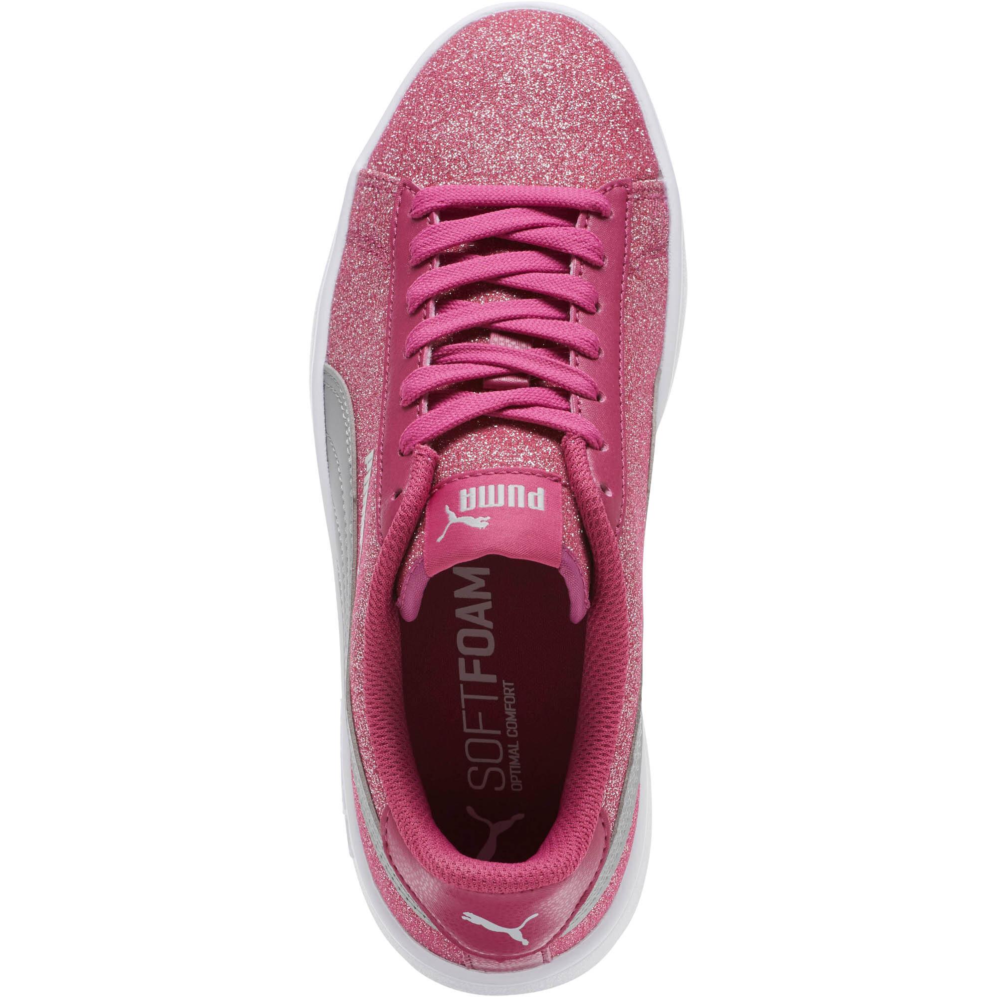 PUMA-Smash-v2-Glitz-Glam-Sneakers-JR-Girls-Shoe-Kids thumbnail 11