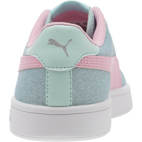 Thumbnail 4 of Smash v2 Glitz Glam JR Sneakers, F Aqua-P Pink-Silver-White, medium