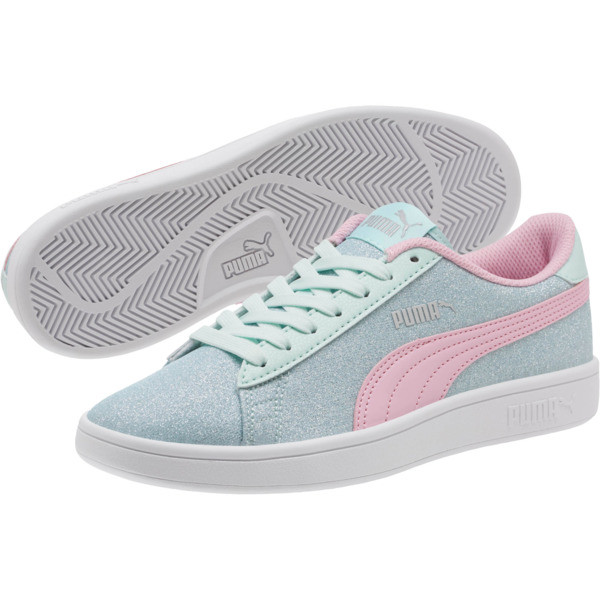 Smash v2 Glitz Glam JR Sneakers, F Aqua-P Pink-Silver-White, large