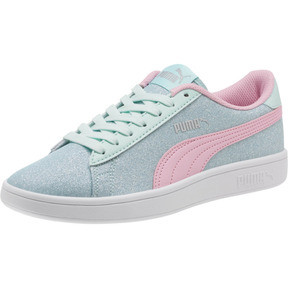 Thumbnail 1 of Smash v2 Glitz Glam JR Sneakers, F Aqua-P Pink-Silver-White, medium