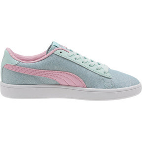 Thumbnail 3 of Smash v2 Glitz Glam JR Sneakers, F Aqua-P Pink-Silver-White, medium