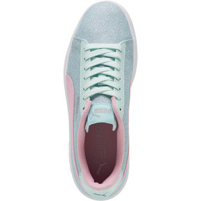 Thumbnail 5 of Smash v2 Glitz Glam JR Sneakers, F Aqua-P Pink-Silver-White, medium