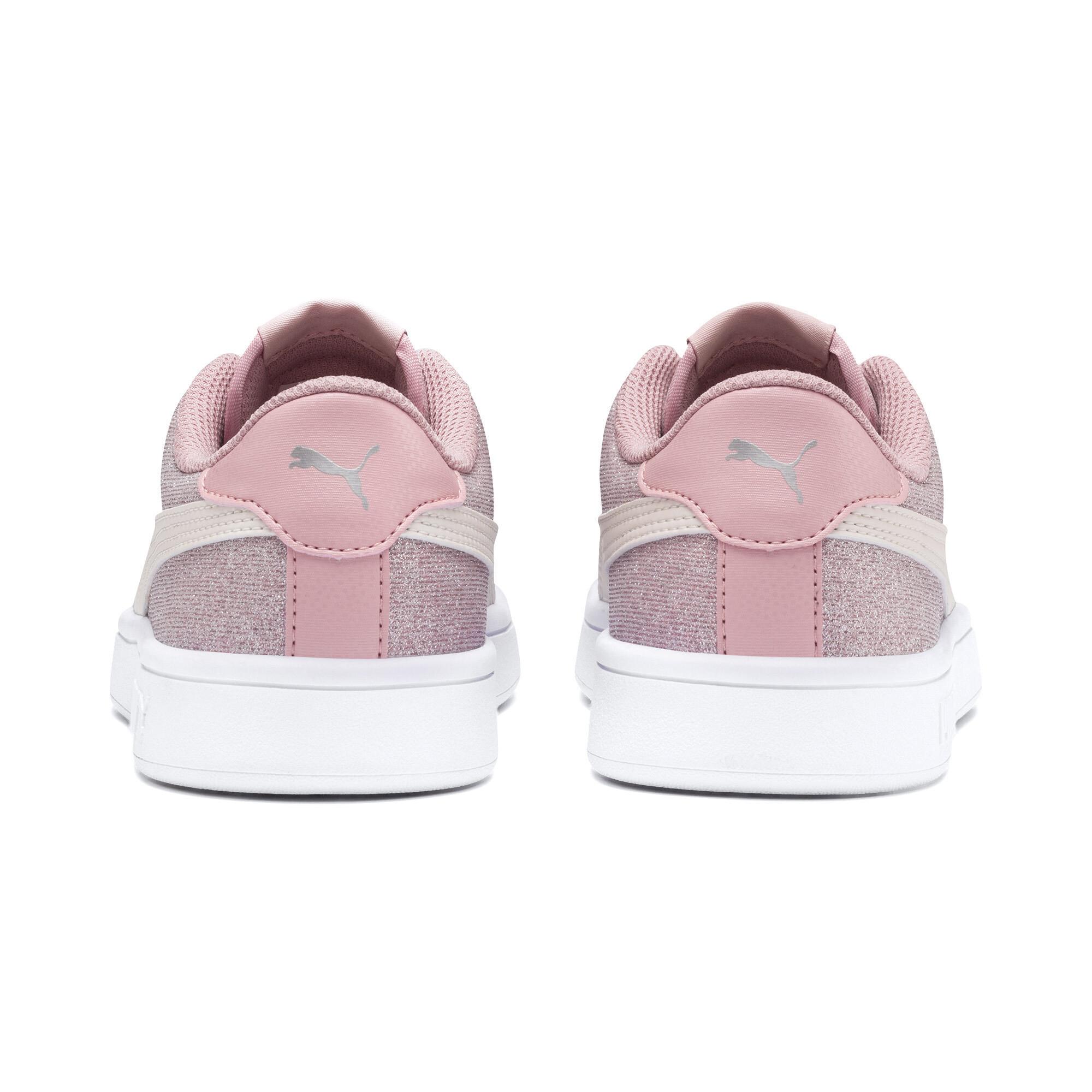 PUMA-Smash-v2-Glitz-Glam-Sneakers-JR-Girls-Shoe-Kids thumbnail 13