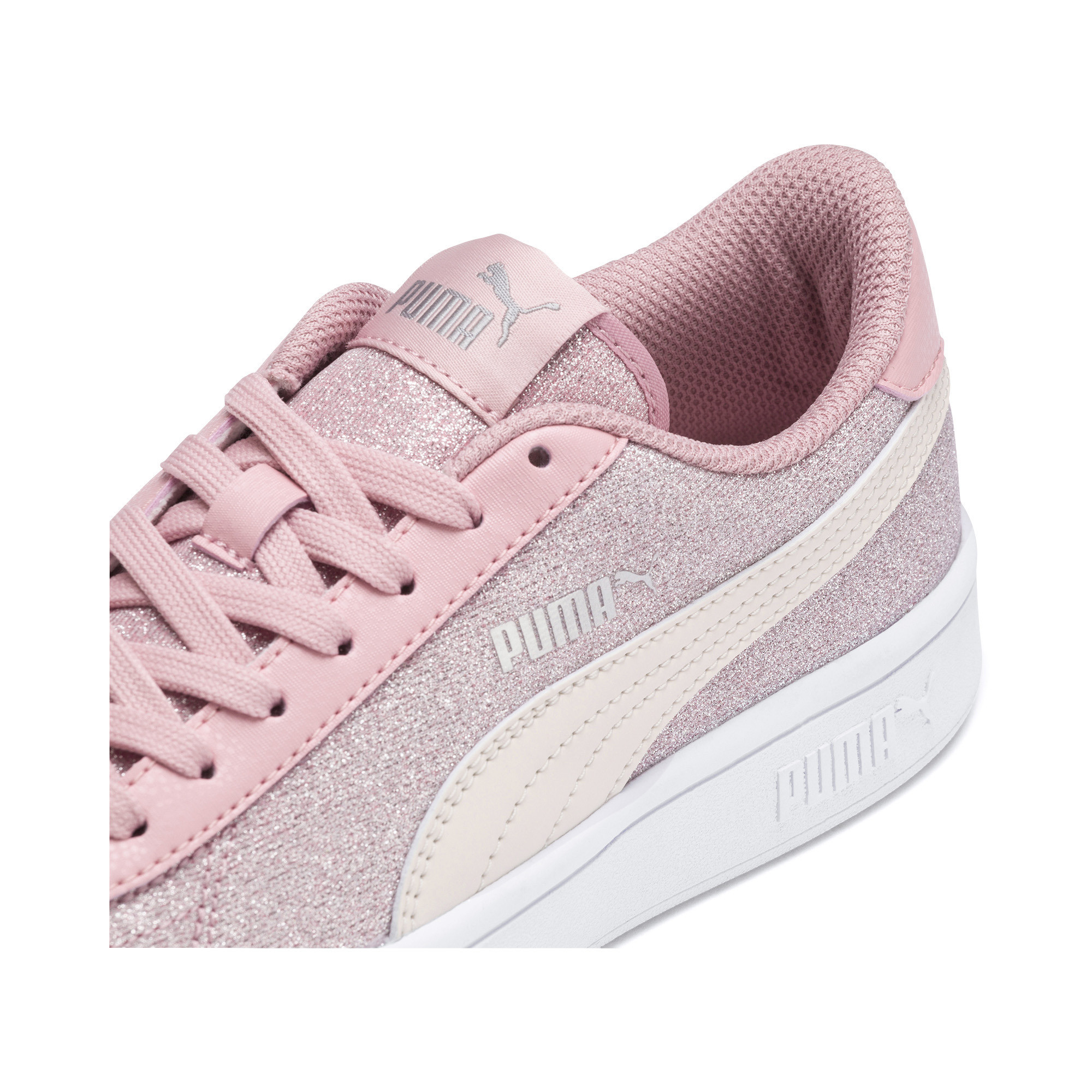 PUMA-Smash-v2-Glitz-Glam-Sneakers-JR-Girls-Shoe-Kids thumbnail 18