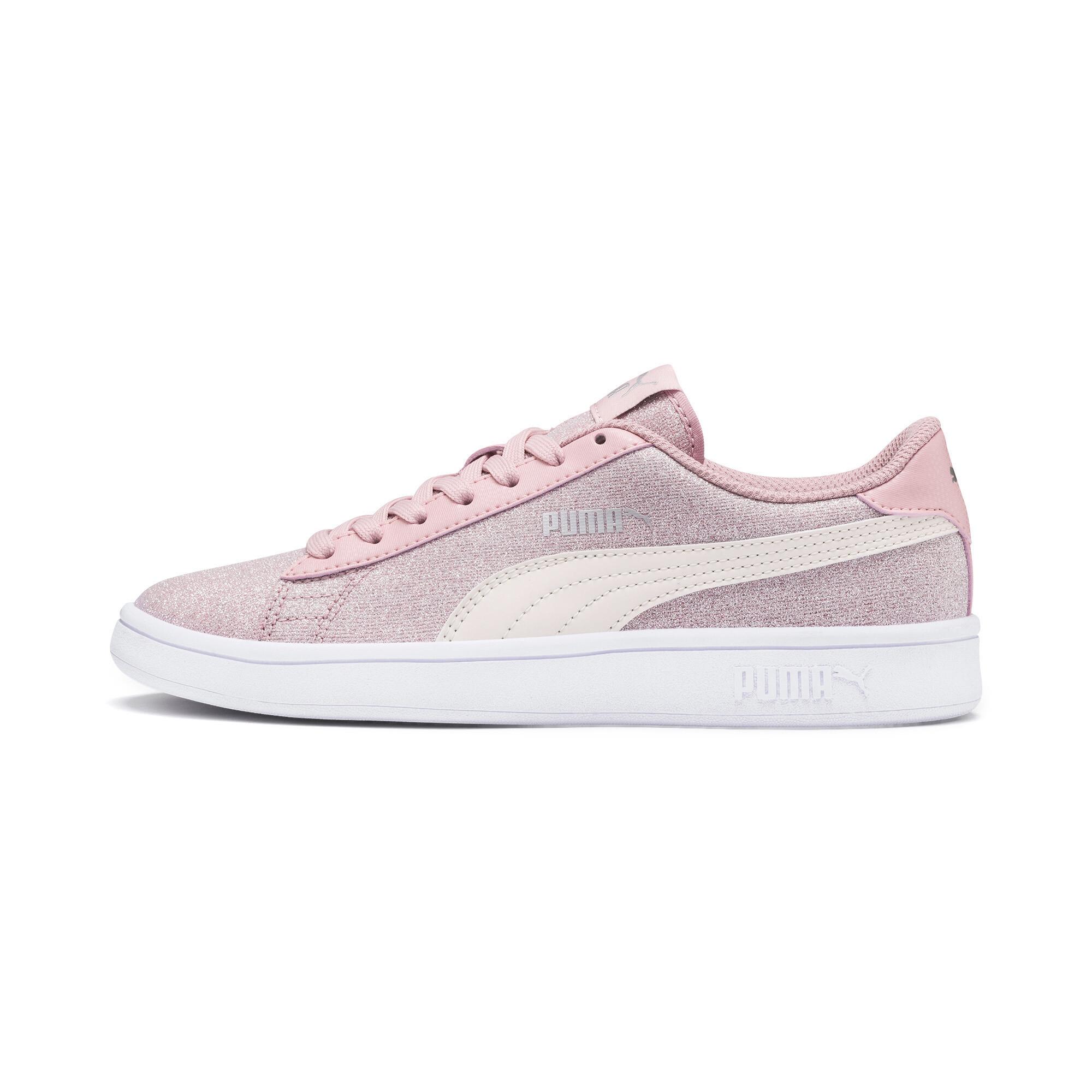 PUMA-Smash-v2-Glitz-Glam-Sneakers-JR-Girls-Shoe-Kids thumbnail 14