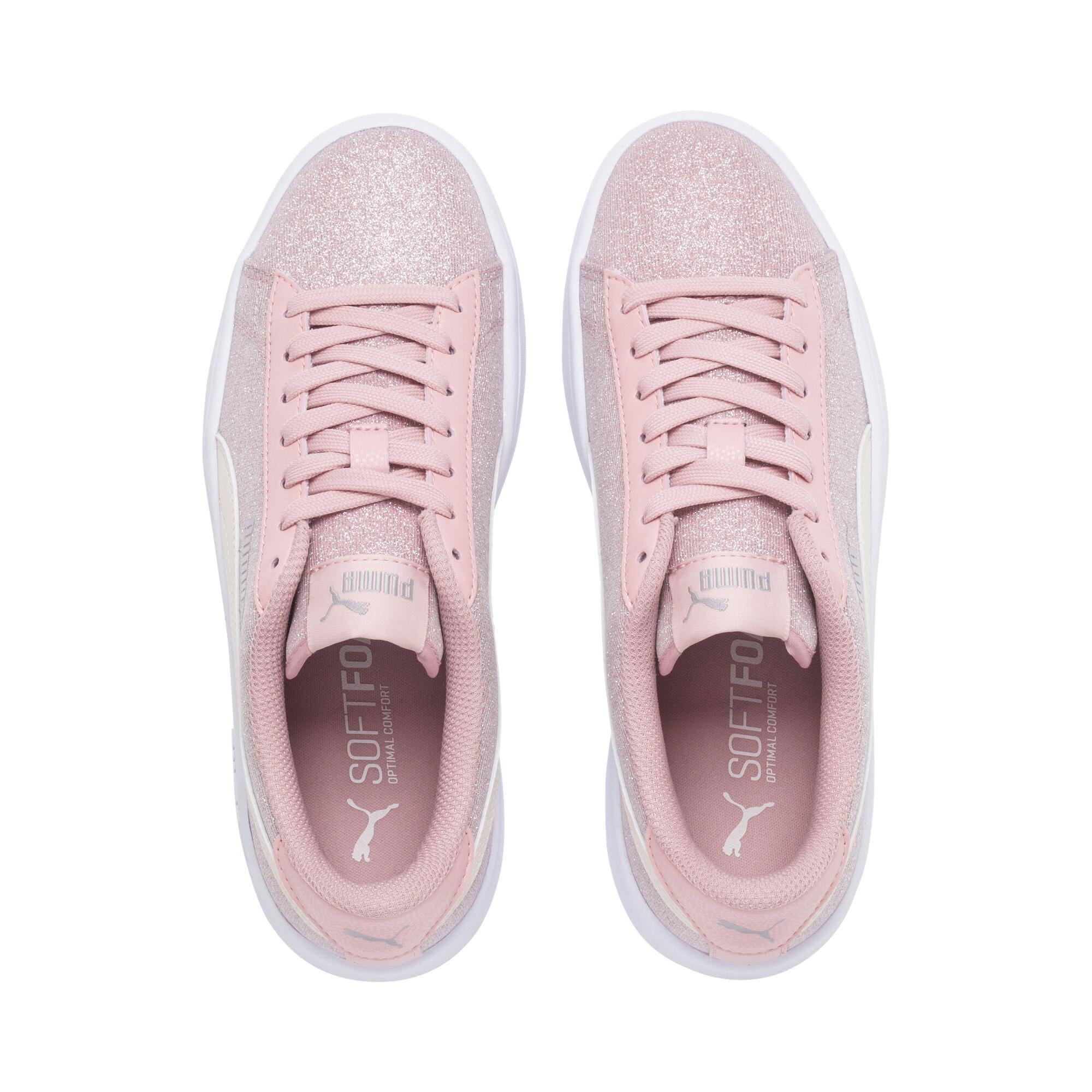 PUMA-Smash-v2-Glitz-Glam-Sneakers-JR-Girls-Shoe-Kids thumbnail 17