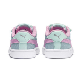 Thumbnail 4 of PUMA Smash v2 Glitz Glam Sneakers PS, F Aqua-P Pink-Silver-White, medium