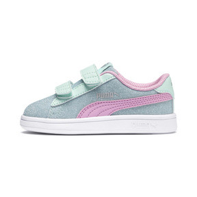 Thumbnail 1 of PUMA Smash v2 Glitz Glam Sneakers PS, F Aqua-P Pink-Silver-White, medium