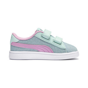 Thumbnail 5 of PUMA Smash v2 Glitz Glam Sneakers PS, F Aqua-P Pink-Silver-White, medium