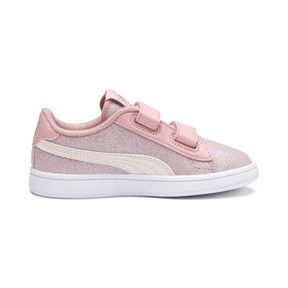 Thumbnail 5 of PUMA Smash v2 Glitz Glam Kid Girls' Trainers, B Rose-P Parchment-Silv-Wht, medium