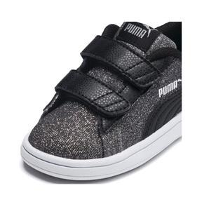Thumbnail 6 of Smash v2 Glitz Glam V Infant Sneakers, Puma Black-Puma Silver, medium