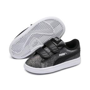 Thumbnail 2 of Smash v2 Glitz Glam V Infant Sneakers, Puma Black-Puma Silver, medium