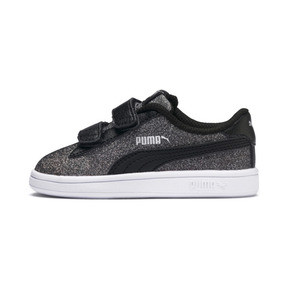 Thumbnail 1 of Smash v2 Glitz Glam V Infant Sneakers, Puma Black-Puma Silver, medium