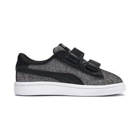 Thumbnail 5 of Smash v2 Glitz Glam V Infant Sneakers, Puma Black-Puma Silver, medium