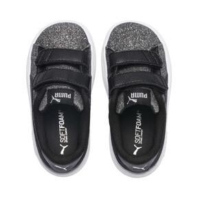 Thumbnail 7 of Smash v2 Glitz Glam V Infant Sneakers, Puma Black-Puma Silver, medium