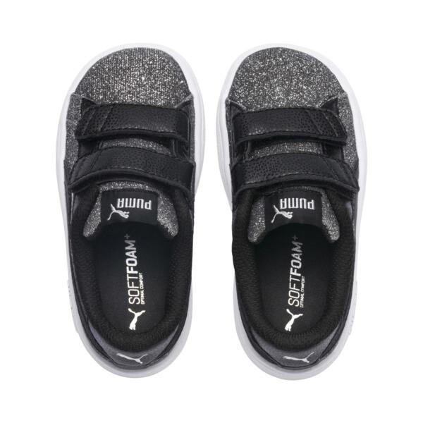 Smash v2 Glitz Glam V Infant Sneakers, Puma Black-Puma Silver, large