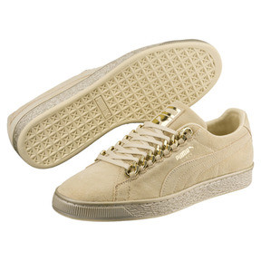 Thumbnail 2 van Suede Classic X-chains sneakers, Reed Yellow-Metallic Gold, medium