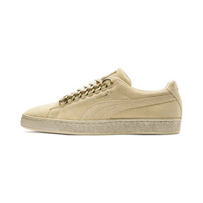 Thumbnail 1 of Suede Classic X-chains Sneaker, Reed Yellow-Metallic Gold, medium