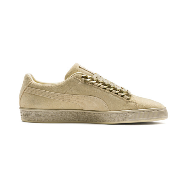 Suede Classic X-chains Sneaker, Reed Yellow-Metallic Gold, large