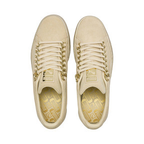 Thumbnail 6 of Suede Classic X-chains Sneaker, Reed Yellow-Metallic Gold, medium