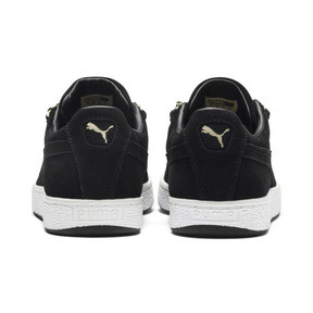 Thumbnail 4 of Suede Classic X-chains Trainers, Puma Black-Metallic Gold, medium