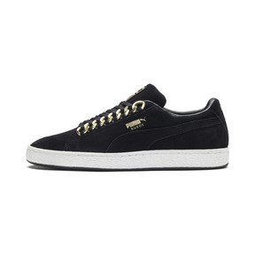 Thumbnail 1 of Suede Classic X-chains Trainers, Puma Black-Metallic Gold, medium