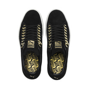 Thumbnail 6 of Suede Classic X-chains Trainers, Puma Black-Metallic Gold, medium